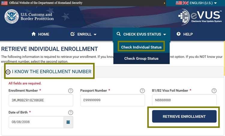 知道申请登记号码查询EVUS登记状态的方法